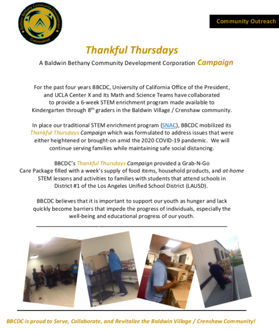 Announcing BBCDC Thankful Thursdays Campaign